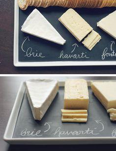 DIY Chalkboard Platter.