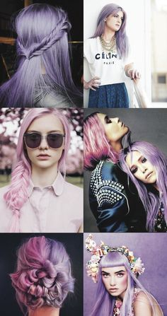 Hair : the pinks and purples