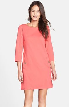 Ponte A-Line Dress / @nordstrom - love the style of this dress - do not like the color