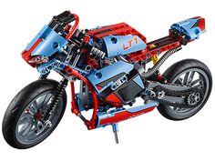 Prends la route avec la magnifique moto urbaine LEGO® Technic !