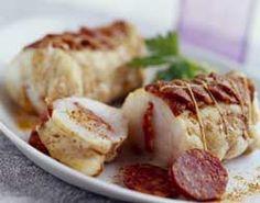 Petits rôtis de lotte au chorizo quant c'est bon on mange du poisson