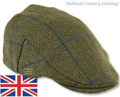 Fox derby tweed flat cap in green with a blue cross strripe Country Hats, Country Outfits, Country Style, Heather Fox, Mens Newsboy Hat, Blue Cross, News Boy Hat, Flat Cap, Fashion Flats