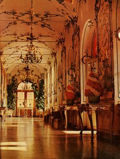 The gallery of the Agnelli country house near Turin, Italy