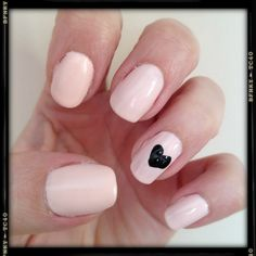Simple understated valentines nails . My new fav nude!! Sinful Colors Easy Going