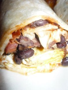 Breakfast burrito at Valencia in Norwalk.  Was in Diners, Drive-ins, and Dives