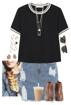 """Untitled #405"" by joannakirk ❤ liked on Polyvore featuring MANGO, Kendra Scott, Ray-Ban, Forever 21 and Hoss Intropia"