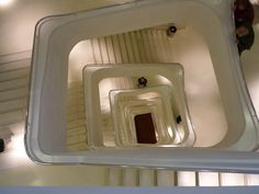 Cosmo-caixa Museum, Madrid. Interior stairs