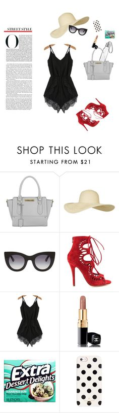 """""""Summertime Coffee"""" by leilachabane ❤ liked on Polyvore featuring Miss Selfridge, Topshop, Thierry Lasry, Modern Vice, Chanel, Kate Spade and Eva Solo"""