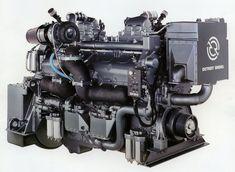 The Detroit Diesel - the iconic American high speed two stroke diesel engine Small Diesel Generator, Detroit Diesel, Aircraft Engine, Truck Engine, Combustion Engine, Heavy Machinery, Iron Age, Diesel Trucks, Diesel Engine