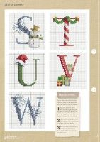 Gallery.ru / Фото #53 - CrossStitcher 311 - tymannost Christmas Cross Stitch Alphabet, Monogram Cross Stitch, Cross Stitch Alphabet Patterns, Xmas Cross Stitch, Cross Stitch Samplers, Cross Stitching, Stitch Patterns, Alphabet And Numbers, Creative Crafts