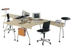Two desks one office - too modern but good spacial design