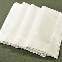 Bumblebee Linens White Linen Hemstitched Dinner Napkins- Set of 4 X Ladder Hem Stitch Cloth Napkin Cloth Napkins Bulk, Cloth Napkin Folding, Linen Napkins, Napkins Set, Hem Stitch, Tabletop Accessories, Embroidery Monogram, Wedding Napkins, Dining Table In Kitchen