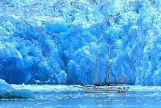 Sail Boat and glacier
