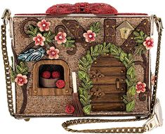 Mary Frances Disney Snow White Cottage Embellished Dwarf House Crossbody Handbag in Clothing, Shoes & Accessories, Women, Women's Bags & Handbags Snow White Dwarfs, Mary Frances Handbags, Mary Frances Purses, Disney Handbags, Novelty Bags, Beaded Bags, Beautiful Bags, Beautiful Things, Cross Body Handbags