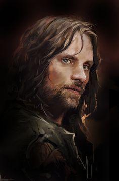 Aragorn, Dave Seguin on ArtStation at https://www.artstation.com/artwork/aragorn