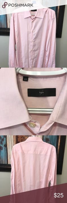 Zegna BD Dress Shirt Pink Size 17x35 EUC shows no signs of wear. Zegna Dress Shirt. Modern pink will add flare to any business attire. Semi-spread Collar. 100% Cotton. Zegna Dress shirts retail for as much as $395. Z Zegna Shirts Dress Shirts