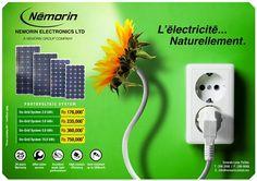 Némorin Electronics Ltd - L'électricité... Naturellement ! Tél: 286 2000