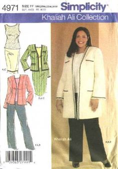 Simplicity Sewing Pattern 4971 Womans Plus Size 18W-24W Wardrobe Top Skirt Jacket Pants Suit  $13.99
