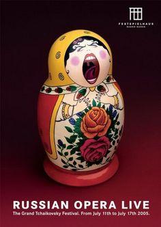 The Russian Opera Live - Great concept over Matryoshka nesting dolls Creative Advertising, Advertising Design, Layout Design, Design Art, Watercolor Flower, Poster Design, Great Ads, Grafik Design, Advertising Campaign