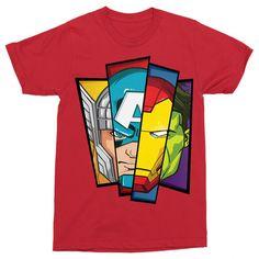Marvel rajongó vagy?!😍 Csekkold le a pólóinkat a weboldalon   #bosszúállók #kedvenc #best #ajándék #ajándékötlet #amerikakapitány #pókember #vasember Loki, Avengers, Face, Mens Tops, T Shirt, Marvel, Products, Fashion, Avenger Party