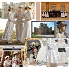 Downton Abbey by ingrid on Polyvore featuring Ted Baker, Giuseppe Zanotti, Monsoon, Catarzi, Forzieri, Chanel, Marchesa, Bellagio, Versus and vintage inspired