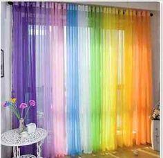 Voile Sheer Curtain Customise Bedroom Window Home DIY Children ...