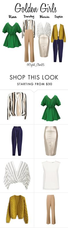 """""""Golden Girls"""" by crystal-castleberry on Polyvore featuring Dorothy Perkins, Vionnet, River Island, Free People, Finders Keepers, Chicwish, Victor Alfaro and modern"""