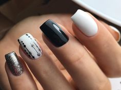 Look at the summer nail art design photos, choose the best idea for yourself and embody it boldly! Best option summer nail designs 2018 and 2018 nail art designs. Shellac Nails, Nail Polish, Cute Nails, Pretty Nails, Hair And Nails, My Nails, Dot Nail Art, Tape Nail Art, Accent Nails