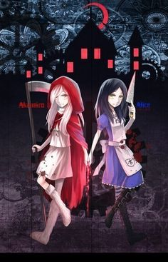 Alice and Akaneiro Dark Alice In Wonderland, Adventures In Wonderland, Alice Sweet Alice, Creepypasta Girls, Alice Mare, Alice Liddell, Alice Madness Returns, Demon Hunter, Arte Horror