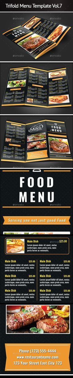 Caribbean Restaurant Take-Out Menu Template | Caribbean Restaurant