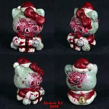 Real.  zombie.  hello Kitty Christmas. Cute. Lovely.