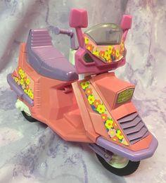 Barbie Moped Scooter Vespa Motorcycle Pink Purple Flowers #Mattel