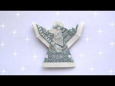 Origami Folding, Diy Origami, Folding Money, Oragami, Dollar Bill Origami, Money Origami, Christmas Angels, Christmas Gifts, Christmas Ornament