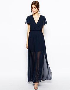 Image 1 - ASOS - Maxi robe à manches volantées
