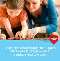 #Tip para hacer algo #divertido (y #delicioso) con tu hijo. #bienestar #hogar #familia