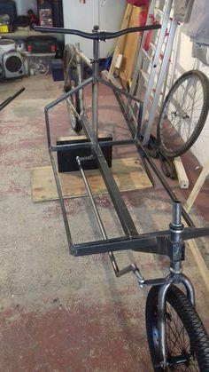 Velo Tricycle, Trike Bicycle, Velo Design, Bicycle Design, Custom Rat Rods, Garage Shop Plans, Velo Cargo, Bike Hanger, Wood Bike