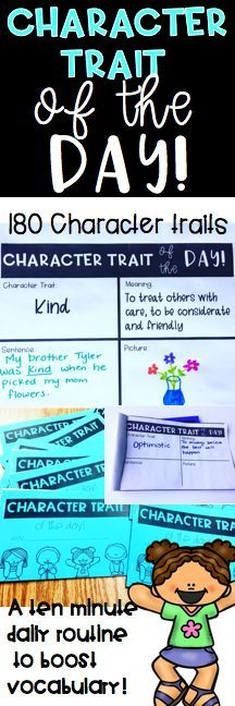 Teach a variety of character traits, boost vocabulary, improve sentence structure, tackle listening and speaking standards, and discuss character education all with this easy 10 minute daily routine!