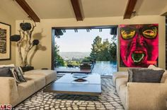 Views: The home offers stunning views over the Sunset Strip in Los Angeles...