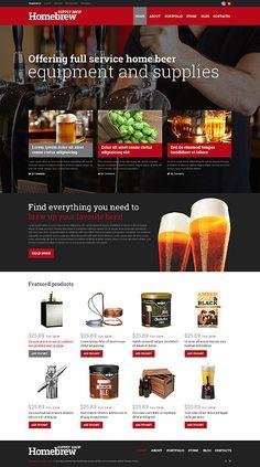Home Brew Equipment & Supplies Online Store theme $115 #WordPress #WooCommerce