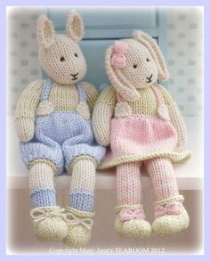 LILY & SAMUEL: SPRING Baby Bunnies Knitting Pattern