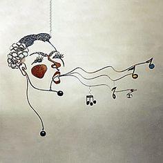 Calder hanging art, hanging mobile, hanging mobiles, art mobiles, mobile art, kinetic art Billie's Blues