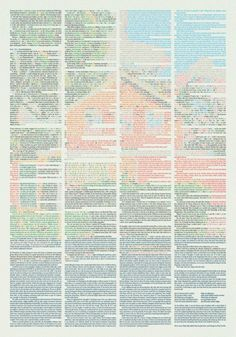 Not actually printed, but great art direction idea.   Credit:  drommelab. (short story poster. by klas ernflo)