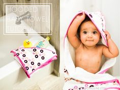 hooded towel tutorial by Sew Caroline for Hart Fabrics using knit and terry towelling fabric.
