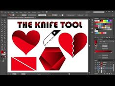 How to Cut a Shape in Adobe Illustrator - the Knife Tool - YouTube