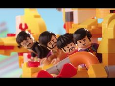 The Beatles' LEGO Yellow Submarine vs. the Sea Monster - YouTube