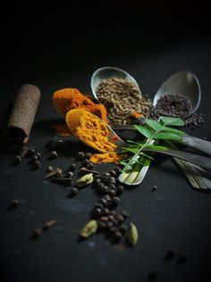 Dark Food Photography, Indian spices