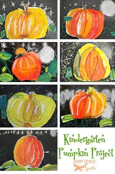 """Kinder-pumpkins  --  I think I'm going to have to round up some nieces and nephews and give this a try.  Looks like lots of fun.  It would be fun to add a """"field trip"""" to the pumpkin patch beforehand for inspiration when drawing their pumpkins."""