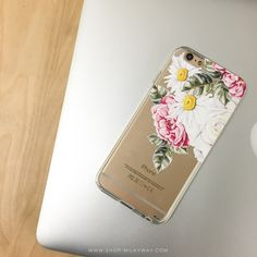 Clear TPU Case Cover - Floral Chandelier – Milkyway