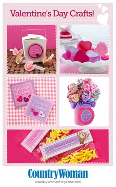 Get last-minute craft projects to make for your Valentine c/o Country Woman magazine!    #craft #project #Valentine