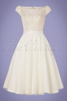 325390bb9d9d 50s Betsy Bridal Swing Dress in White | Bridal stuff | Brautkleid ...